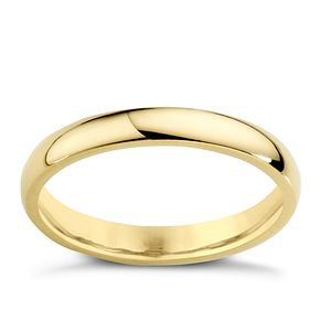 18ct Yellow Gold 3mm Super Heavy Court Ring - Product number 4022122