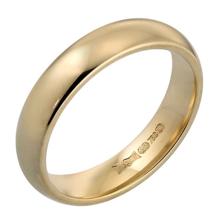 18ct Yellow Gold 4mm Super Heavy Court Ring - Product number 4022327