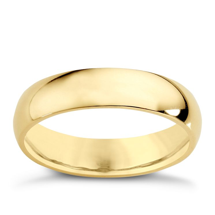 18ct Yellow Gold 5mm Super Heavy Court Ring - Product number 4022912