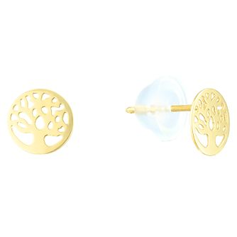 9ct Yellow Gold Tree of Life Design Stud Earrings - Product number 4025709