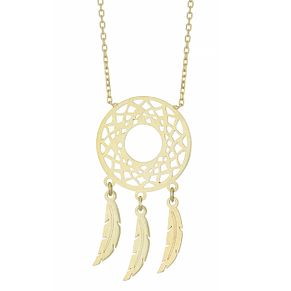 9ct Yellow Gold Geometric Dreamcatcher Necklet - Product number 4026179
