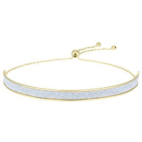 9ct Yellow Gold Glitter Bar Adjustable Bracelet - Product number 4026195