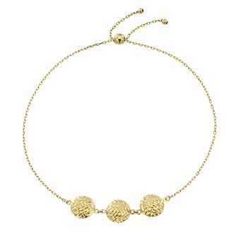 9ct Yellow Gold Diamond Cut Discs Adjustable Bracelet - Product number 4026276