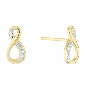Evoke Silver & Gold Plated Figure of 8 Crystal Stud Earrings - Product number 4026853