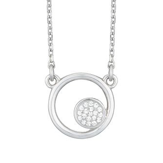 Evoke Silver Circle Shape Crystal Pendant - Product number 4026888