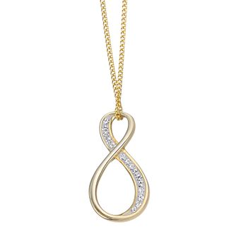 Evoke Silver & Gold Plated Crystal Figure of 8 Pendant - Product number 4026918