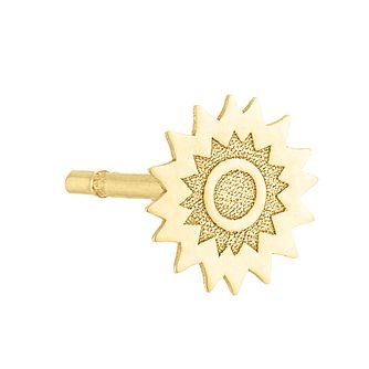 9ct Yellow Gold Sun Shaped Single Stud Earring - Product number 4027027