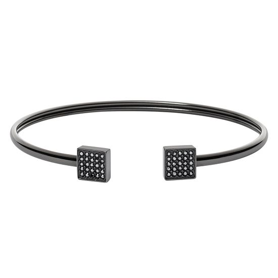 Fossil Gunmetal Stainless Steel Bangle - Product number 4028309