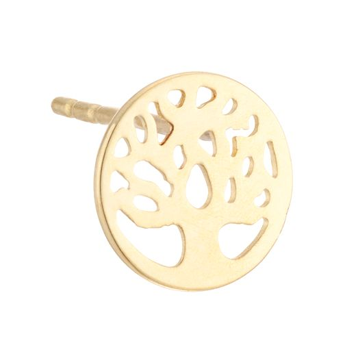 9ct Yellow Gold Tree of Life Design Single Stud Earring - Product number 4028449