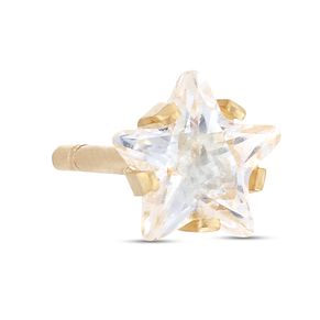 9ct Yellow Gold Cubic Zirconia Star Single Stud Earring - Product number 4028457