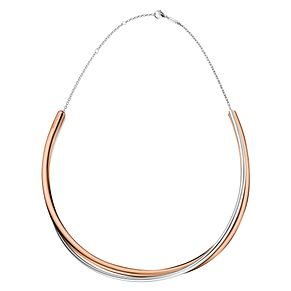 Calvin Klein Silver & Rose Gold Double Strand Choker - Product number 4029682