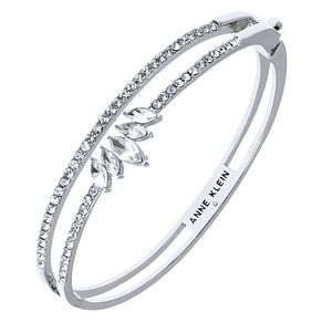 Anne Klein Silver Tone Crystal Pave Bangle - Product number 4030117
