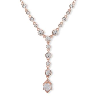 "Anne Klein Rose Gold Plated Crystal 16"" Necklace - Product number 4030176"