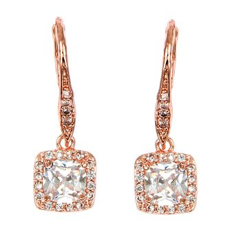 Anne Klein Rose Gold Tone Crystal Drop Earrings - Product number 4031172