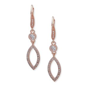 Anne Klein Rose Gold Plated Crystal Drop Earrings - Product number 4031180