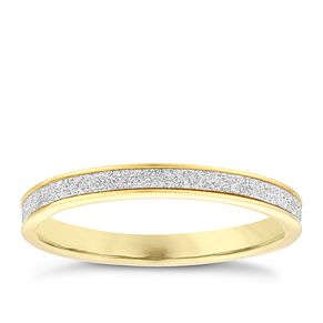 9ct Yellow Gold Glitter Ring - Product number 4034678