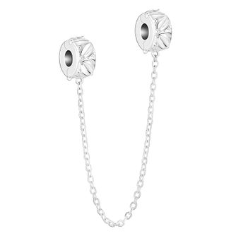 Chamilia Sterling Silver Laurel Safety Chain Lock Charm - Product number 4039815