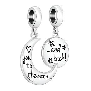Chamilia Sterling Silver Moon & Back Charm Set - Product number 4039831