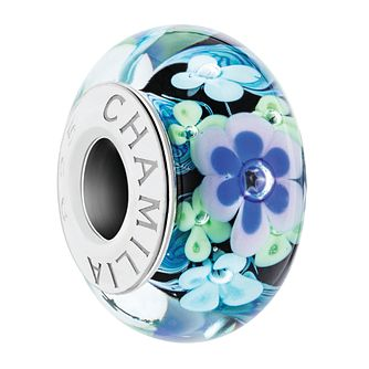 Chamilia Sterling Silver Murano Glass Crown of Flowers Bead - Product number 4042786