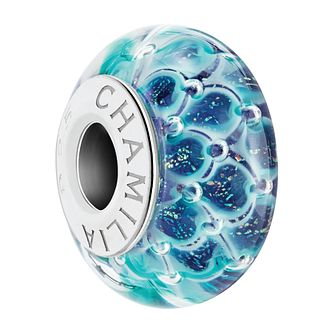 Chamilia Sterling Silver Murano Glass Shimmering Scales Bead - Product number 4042794