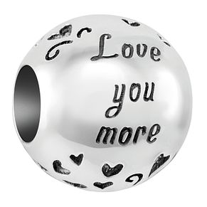 Chamilia Sterling Silver Love You More Bead - Product number 4043138