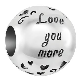 Chamilia Sterling Silver Love You More Charm - Product number 4043138