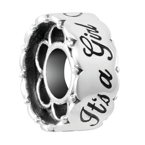Chamilia Sterling Silver It's A Girl Barrel Charm - Product number 4043162