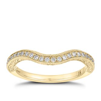Neil Lane 14ct  gold 0.18ct diamond shaped band - Product number 4045491