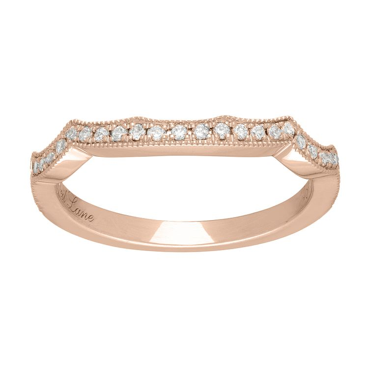 Neil Lane 14ct rose gold 0.18ct diamond shaped band - Product number 4046846