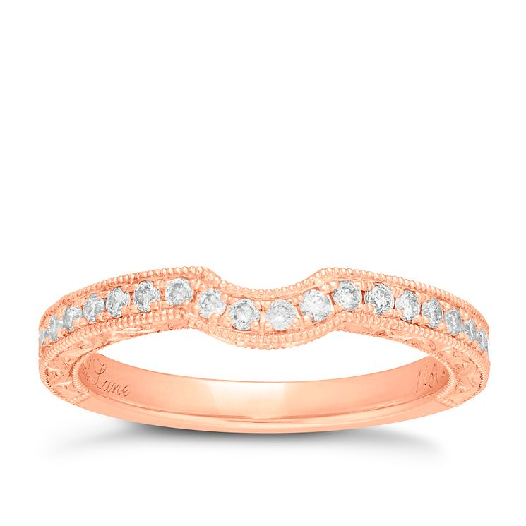 Neil Lane 14ct rose gold 0.33ct diamond shaped band - Product number 4047621