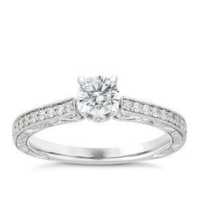 Neil Lane platinum 0.66ct solitaire diamond ring - Product number 4054628