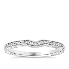 Neil Lane platinum 10pt diamond shaped milgrain band - Product number 4054741