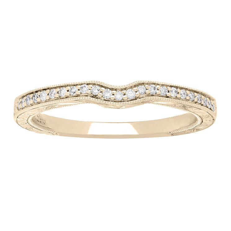 Neil Lane 14ct gold 10pt diamond shaped milgrain band - Product number 4055675