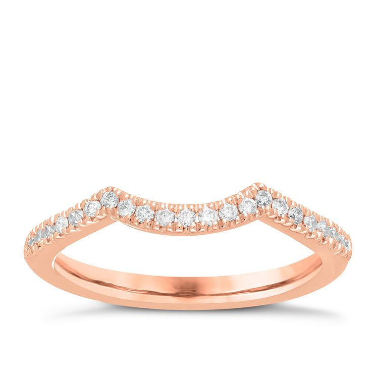 Neil Lane 14ct rose gold 16pt diamond shaped band - Product number 4056744