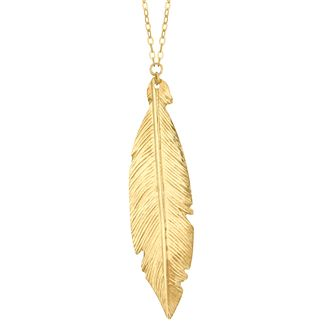 9ct Yellow Gold Leaf Design Pendant - Product number 4057147