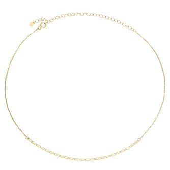 9ct Yellow Gold Fancy Disc Chain Choker - Product number 4057171