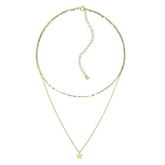 9ct Yellow Gold Disc Chain Star Choker - Product number 4057198