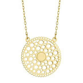 9ct Yellow Gold Bubble Dreamcatcher Necklet - Product number 4057562