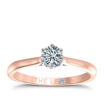 Leo Diamond 18ct rose gold 1/3ct I-I1 solitaire ring - Product number 4057805