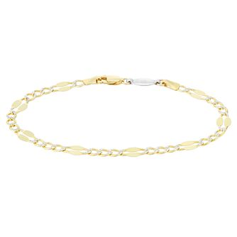 Silver & 9ct Gold Bonded Two Tone Double Disc Bracelet - Product number 4059190
