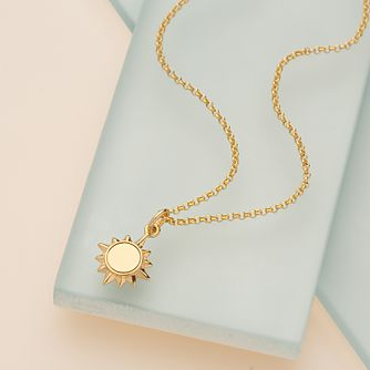 Lily Charmed Gold Plated Sunshine Pendant - Product number 4059409