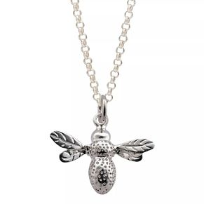 Lily Charmed Sterling Silver Queen Bee Pendant - Product number 4059425