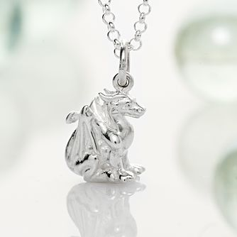 Lily Charmed Sterling Silver Dragon Pendant - Product number 4059433
