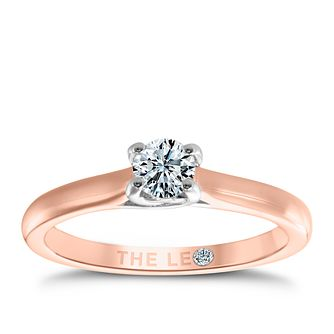 Leo Diamond 18ct rose gold 0.33ct I-SI2 solitaire ring - Product number 4059530