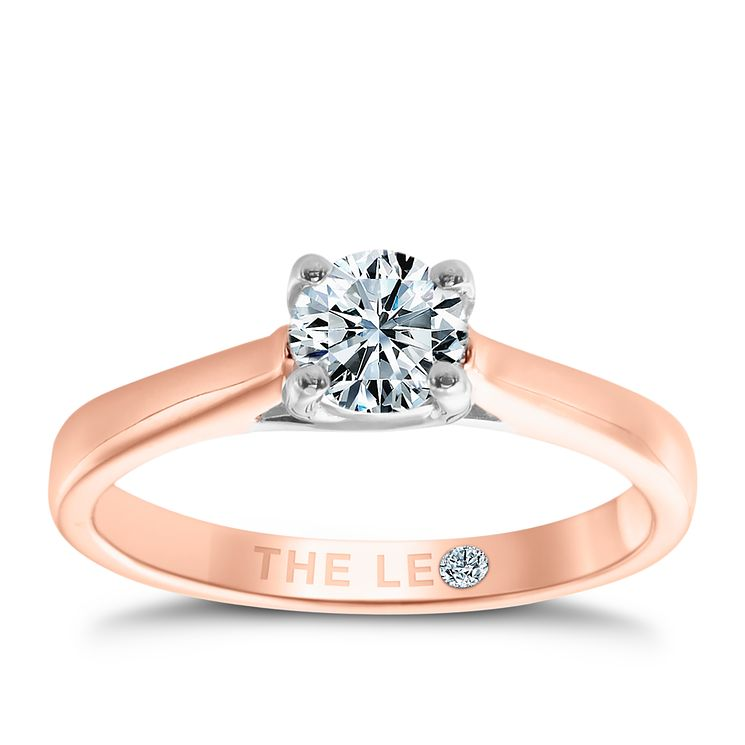 Leo Diamond 18ct rose gold 0.50ct I-SI2 solitaire ring - Product number 4059808