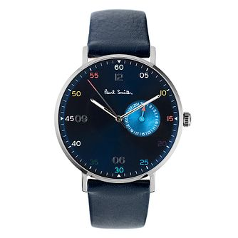 Paul Smith Gauge Men's Stainless Steel Blue Strap Watch - Product number 4059999
