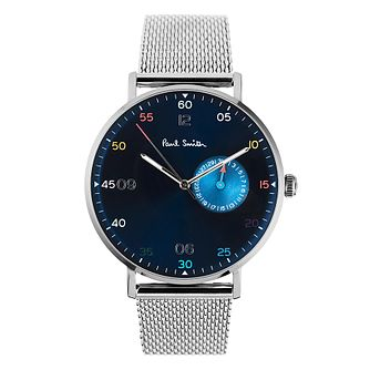 Paul Smith Gauge Men's Stainless Steel Blue Bracelet Watch - Product number 4060016
