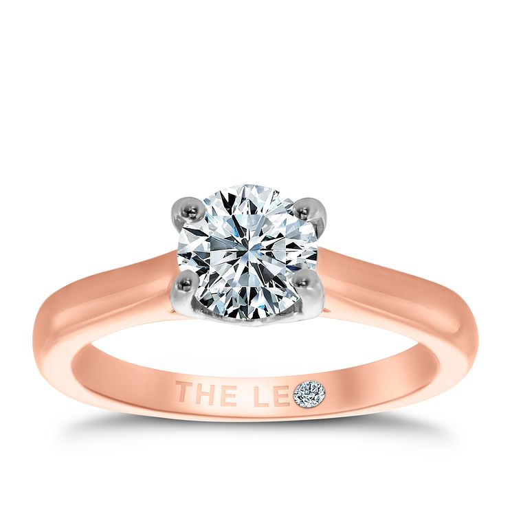 Leo Diamond 18ct rose gold 0.88ct I-SI2 solitaire ring - Product number 4060172