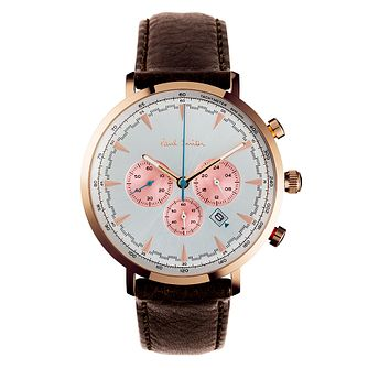 Paul Smith Track Men's Rose Gold Plated Chronograph Watch - Product number 4060210