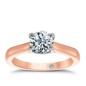 Leo Diamond 18ct rose gold 1ct I-SI2 solitaire ring - Product number 4060466